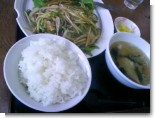 大肉酢豚定食